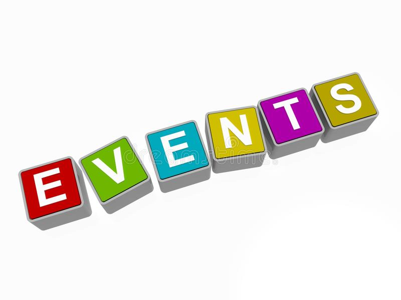 Events sign stock illustration