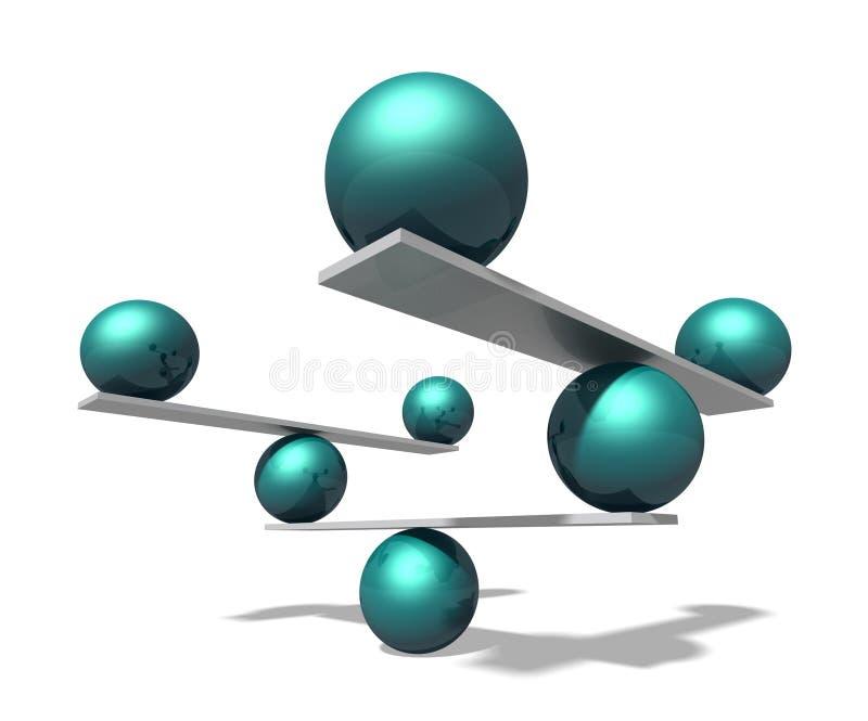 In evenwicht brengende ballen vector illustratie