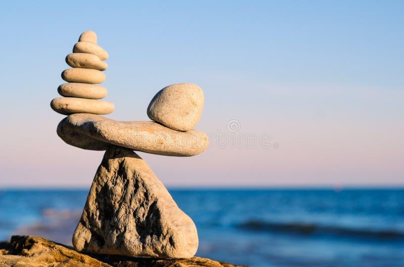 Evenwicht van stenen royalty-vrije stock fotografie