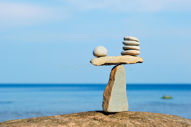 Evenwichtig stock afbeelding