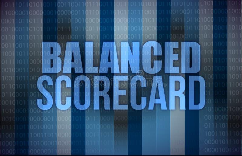 Evenwichtig scorecard op het digitale scherm, zaken vector illustratie