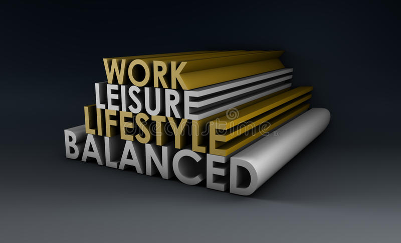 Evenwichtige Levensstijl vector illustratie