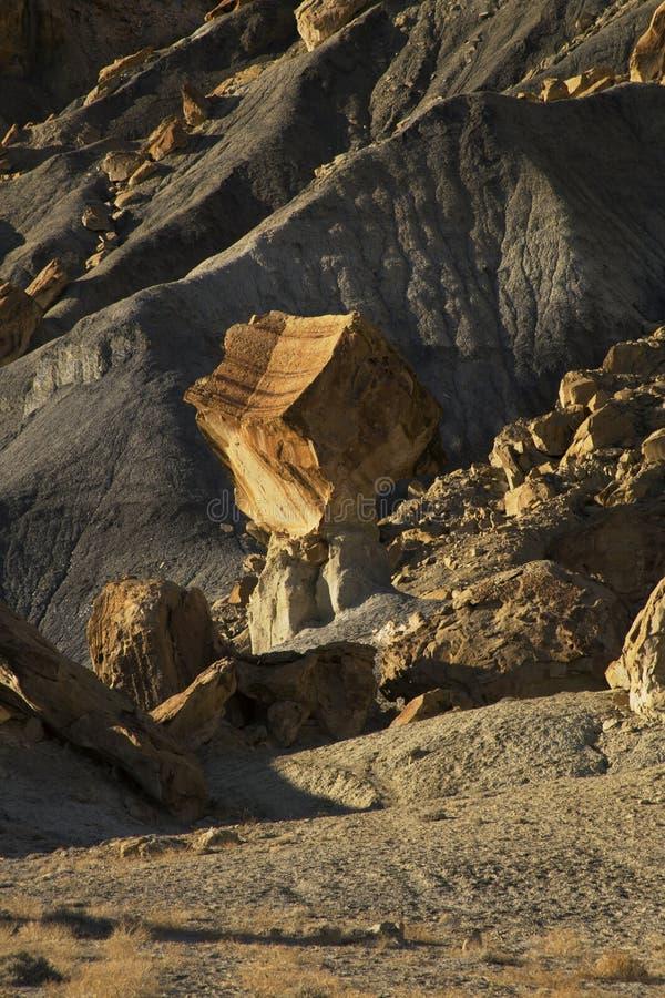 Evenwichtige Rots in Glen Canyon National Recreation Area, Meer Powe royalty-vrije stock foto
