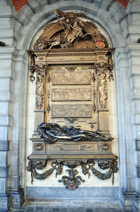Everard u. x27; Monument t Serclaes in Brüssel lizenzfreies stockfoto