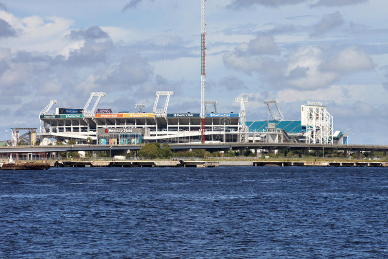 EverBank领域在杰克逊维尔,佛罗里达 免版税图库摄影