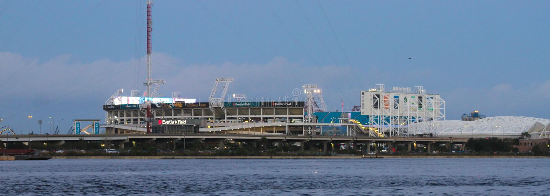EverBank Field Stadium, Jacksonville, Florida royalty free stock image