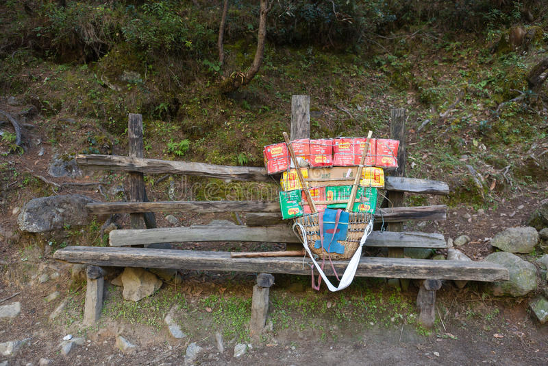 EVEREST ΣΤΡΑΤΟΠΕΔΟ TREK/NEPAL ΒΑΣΕΩΝ - 19 ΟΚΤΩΒΡΊΟΥ 2015 στοκ εικόνες με δικαίωμα ελεύθερης χρήσης