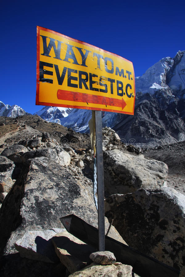 Free Everest Base Camp Sign. Royalty Free Stock Images - 16816129