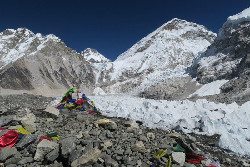 Everest-basecamp stockfotos