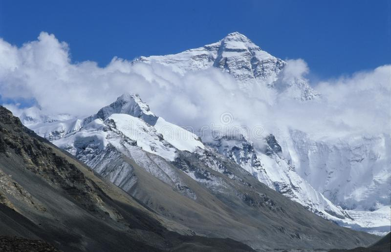 Everest in cloud royalty free stock images