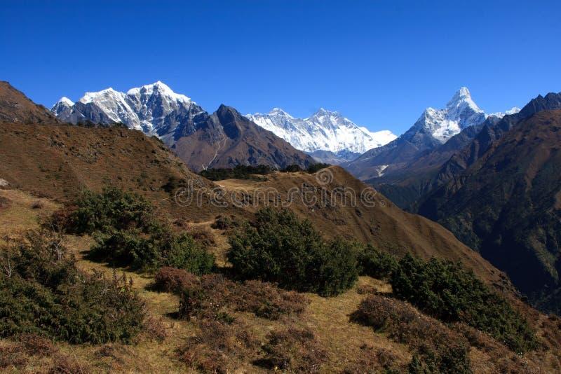 Everest e Ama Dablam 3 immagine stock libera da diritti