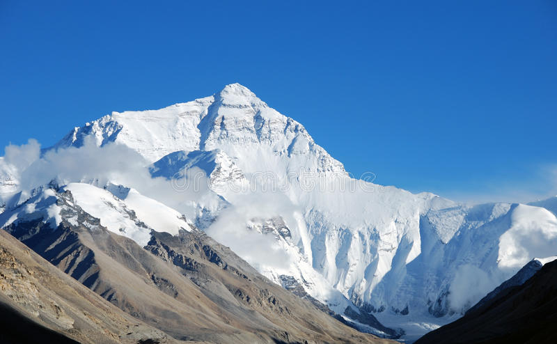 everest góra zdjęcia stock