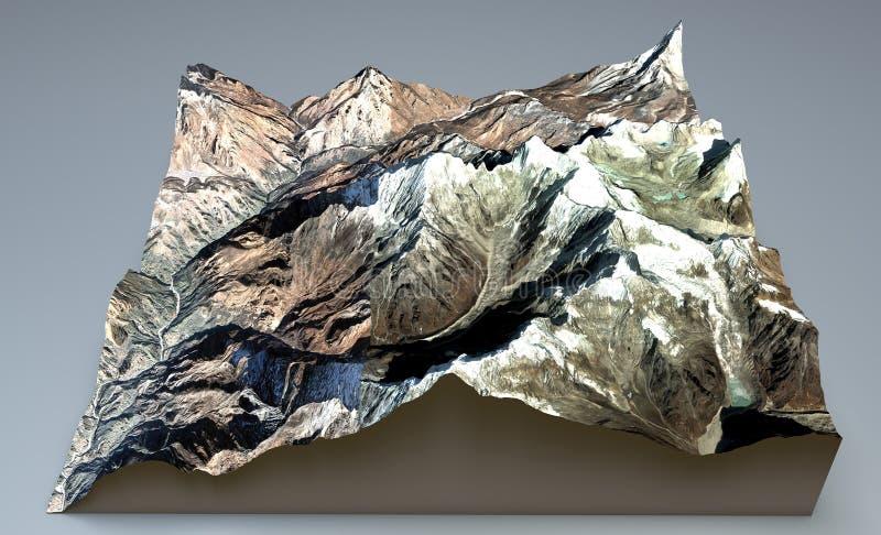 Everest Himalajskie góry ilustracja wektor