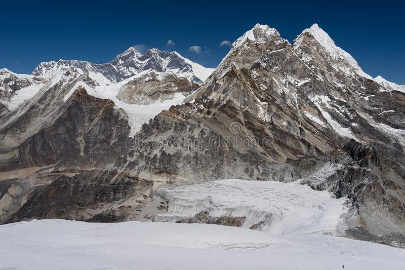 Download Everest Mountain Peak View From The Way To Mera Peak, Everest Re Stock Image - Image of moraine, expedition: 107872247