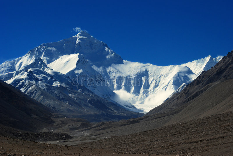 everest mt photographie stock