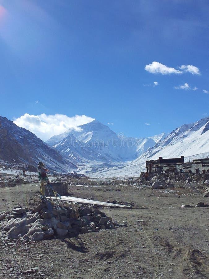 Everest Podstawowy obóz przy zimą obraz royalty free