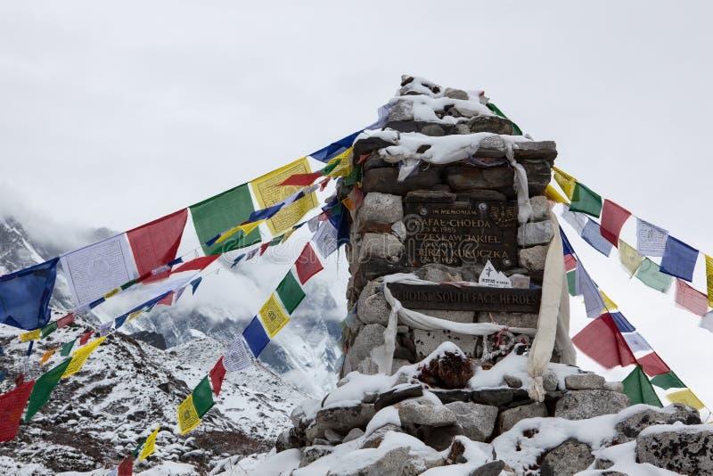 EVEREST PODSTAWOWY obóz TREK/NEPAL - PAŹDZIERNIK 24, 2015 obraz royalty free