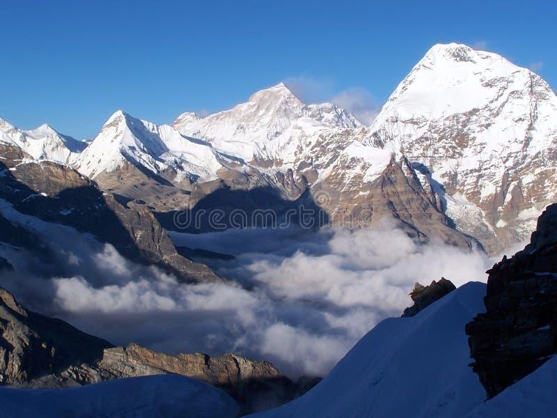 Everest range stock images