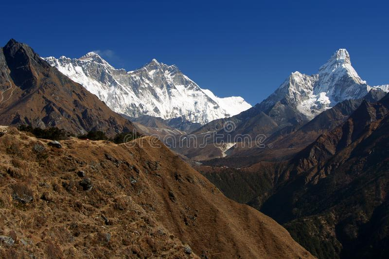 Everest trekking royalty free stock images