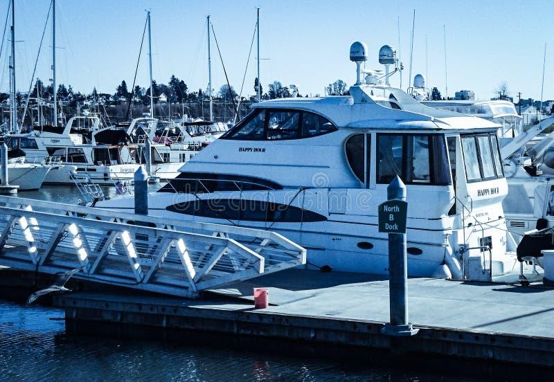 Everett Washington Marina lizenzfreie stockfotografie