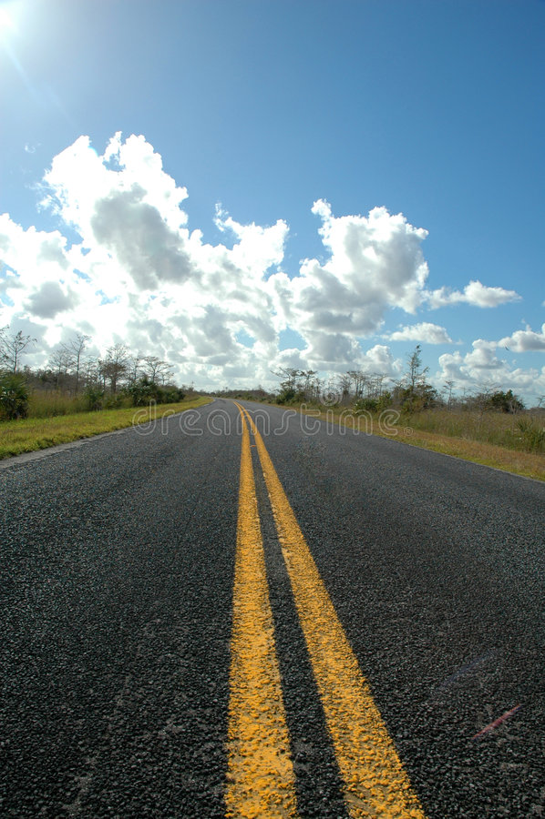 everglades δρόμος στοκ φωτογραφία με δικαίωμα ελεύθερης χρήσης