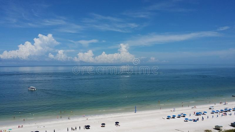Marco Island View. Beautiful beach view at Marco Island, Florida stock photos