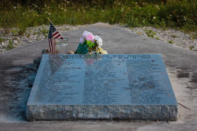 Memorial, dedicated to the victims of crash of ValuJet Flight 592 aircraft stock images