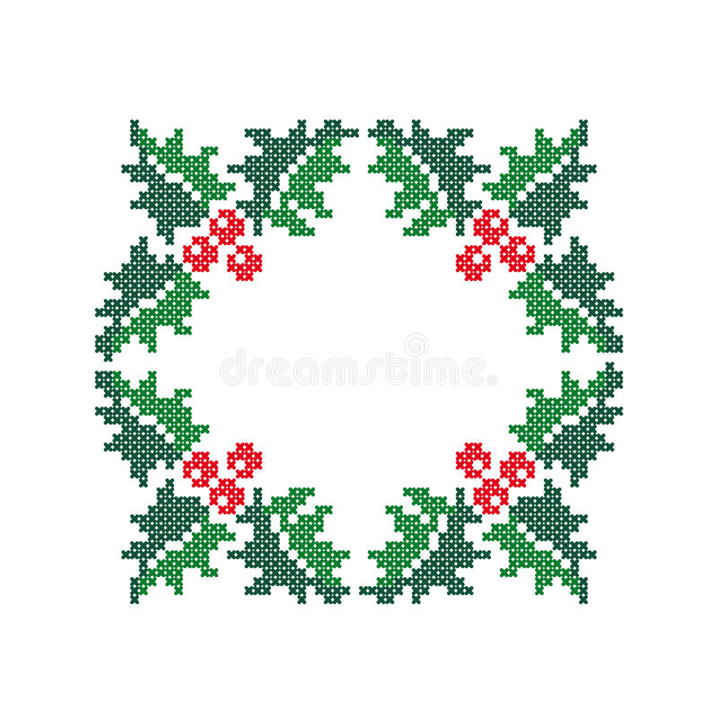 Evergreen Holly With Berries. Christmas Frame. Stock Vector ...