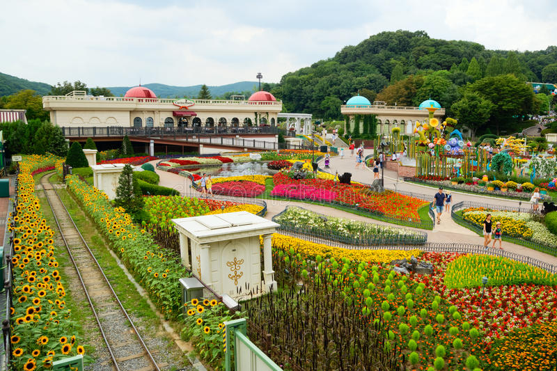 Everland Resort Amusement Park, South Korea royalty free stock images