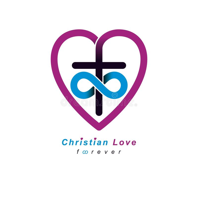 Everlasting Christian Love And True Belief In God Vector Creativ