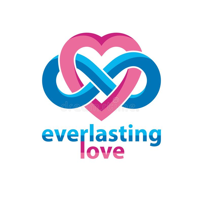 Everlasting Love Concept Symbol Created With Infinity Lo Stock