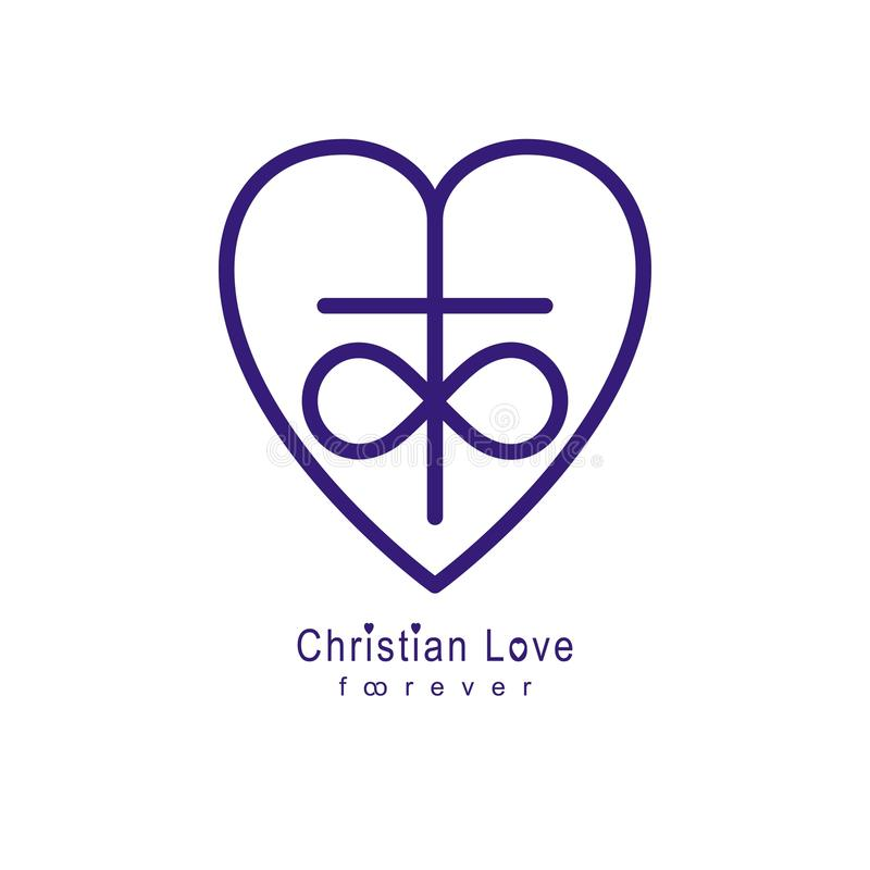 Everlasting Love Of God Vector Creative Symbol Design Combined W