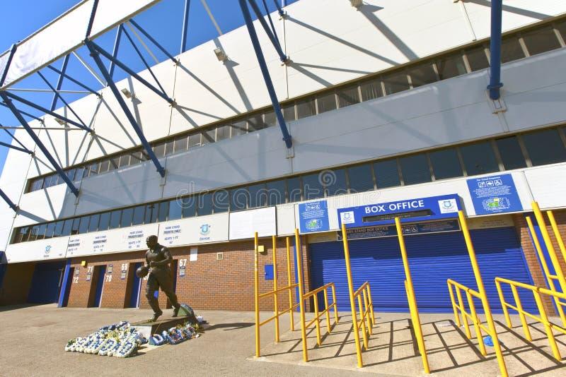 Everton Football Club em Liverpool, Inglaterra. imagem de stock royalty free