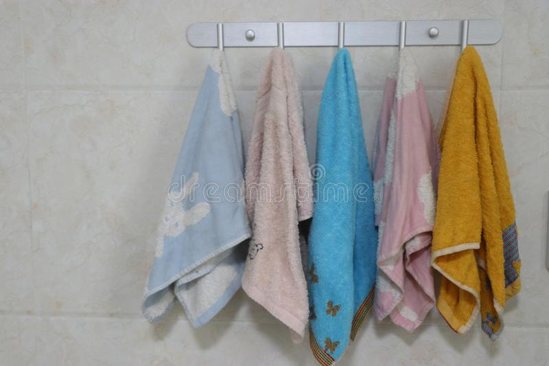 Every child`s towel stock photography
