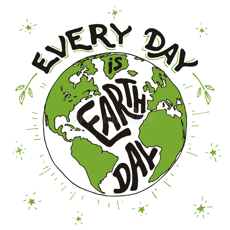 Free Every Day Is Earth Day Holiday Card Stock Photo - 67761740