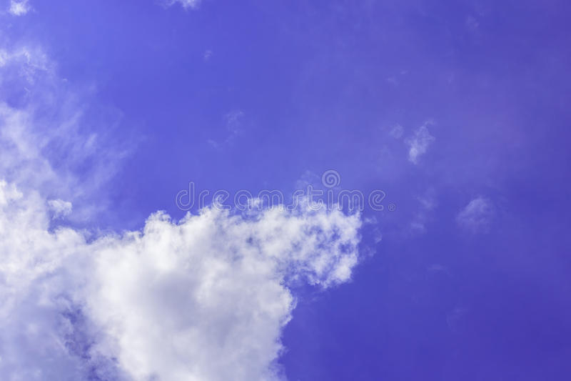 Every day looking at the sky is never a duplication of every stroke of shape. stock image