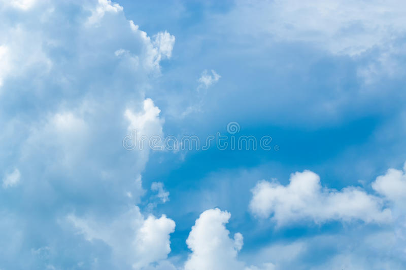 Blue Sky and cloud. Every day looking at the sky is never a duplication of every stroke of shape royalty free stock images