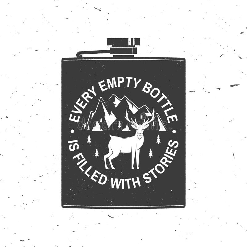 Free Every Empty Bottle Is Filled With Stories. Summer Camp. Vector. Concept For Shirt Or Logo, Print, Stamp Or Tee. Vintage Stock Images - 160311564