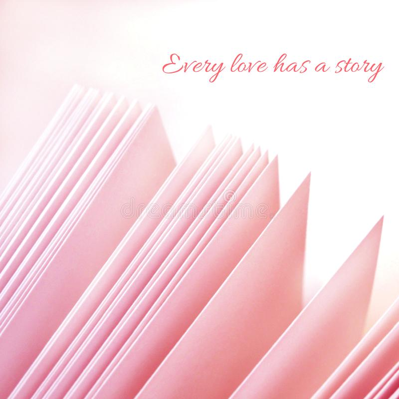 Every love has a story - inspirational motivation quote royalty free stock photo