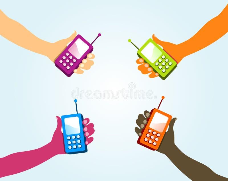 everybody mobilny royalty ilustracja
