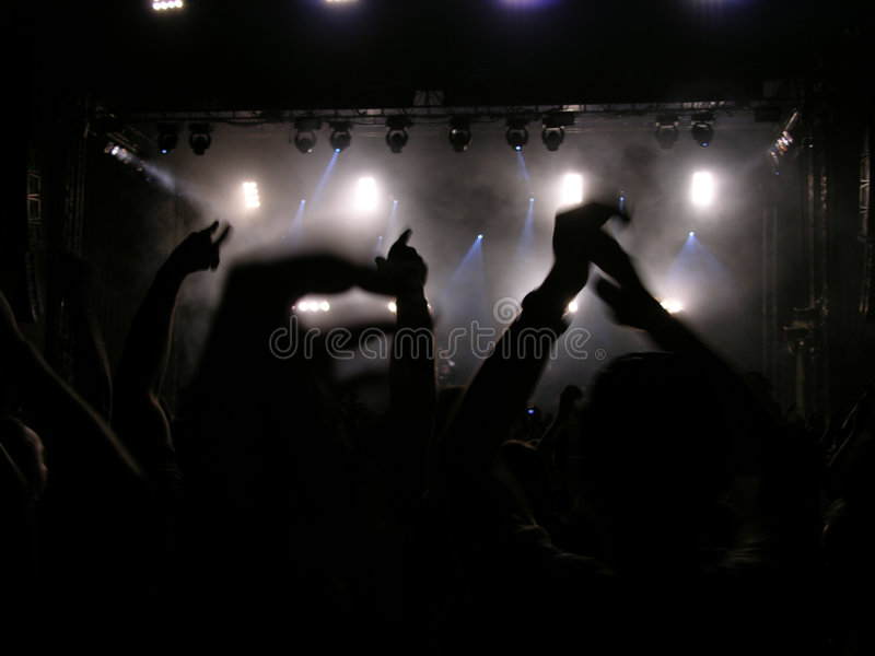 Everybody Put Your Hands Up (Concert) royalty free stock photography