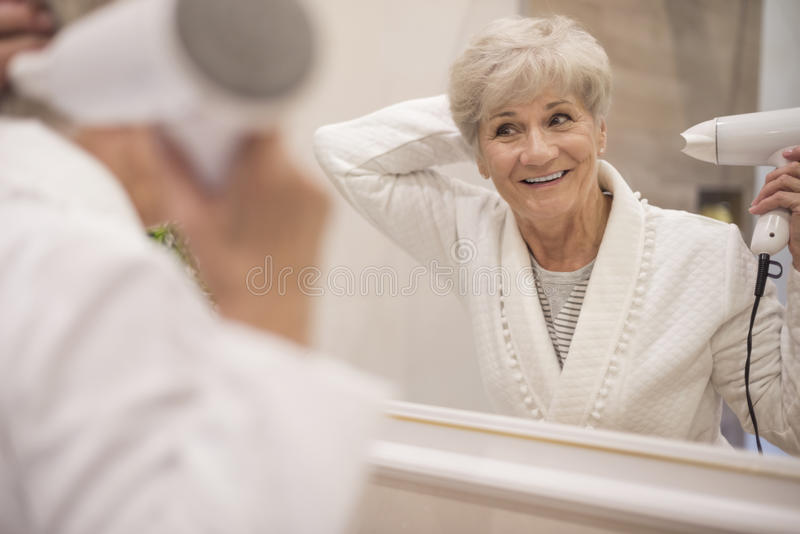 Everyday beauty routine stock image