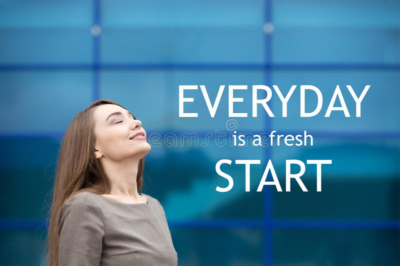Everyday is a fresh start stock photo