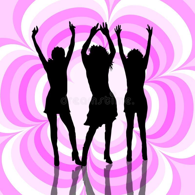 Everyone dance! royalty free illustration