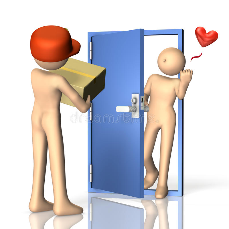 Download Everyone Is Happy If Mail Order Products To Arrive Stock Illustration - Image: 29782574