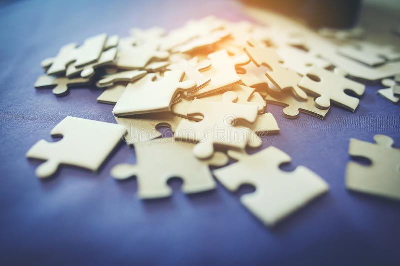 Everyone is an important jigsaw at work. stock image