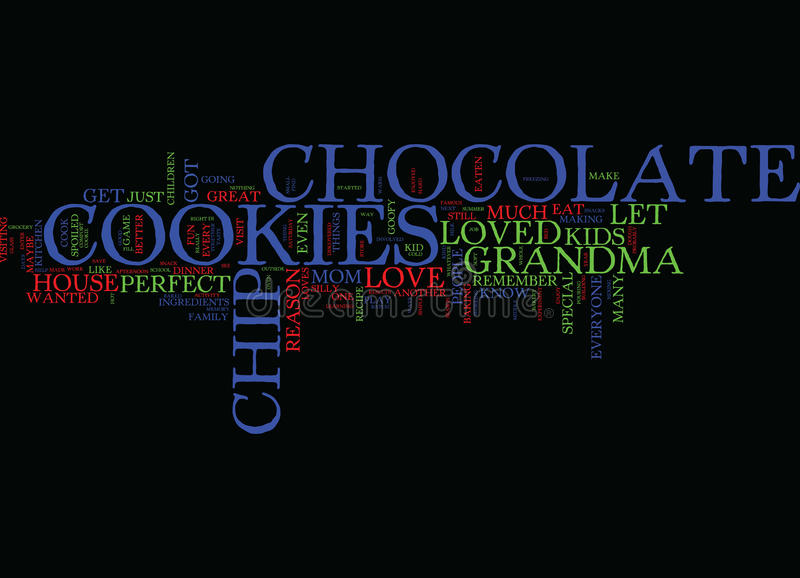Everyone Loves Chocolate Chip Cookies Text Background Word Cloud Concept stock photo