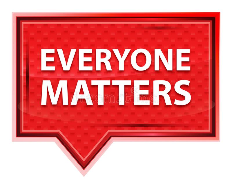 Everyone Matters misty rose pink banner button. Everyone Matters Isolated on misty rose pink banner button vector illustration