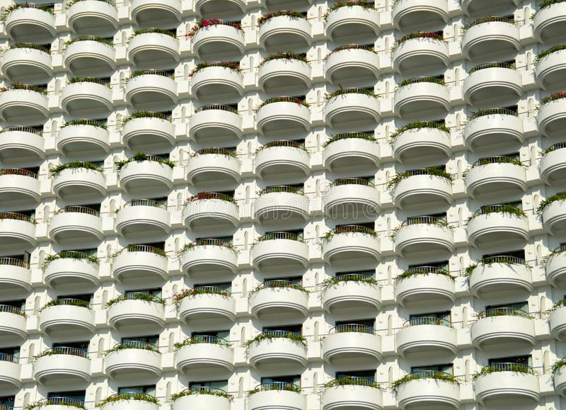 Everyone should be same. A residential complex of hundreds of different families living side by side in the same hundred apartments royalty free stock photos
