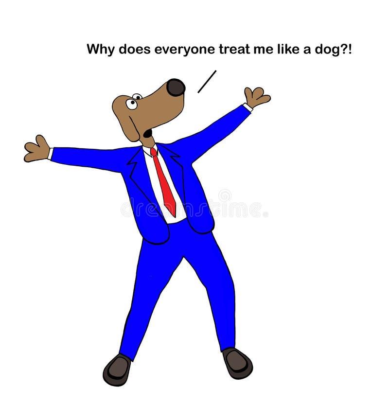 Everyone taktuje psa jak pies royalty ilustracja